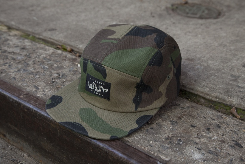 5BORO NYC WOODLAND CAMO FIVE PANEL HAT - SIDE VIEW